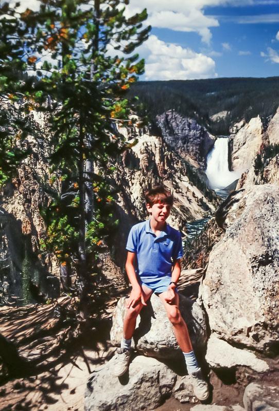Steven, Yellowstone Canyon, 1987