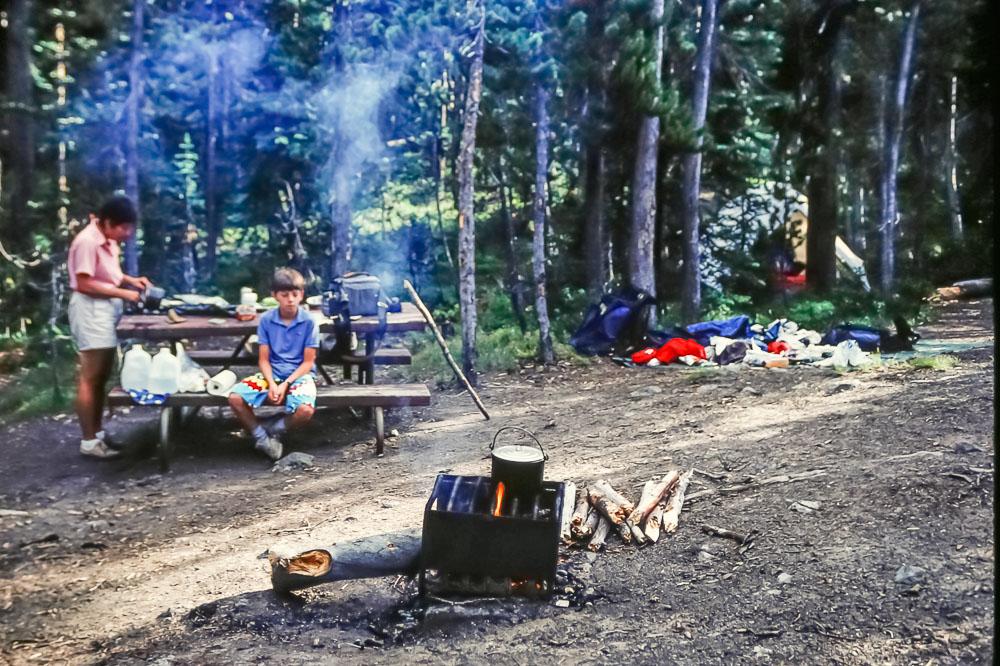 Yellowstone camping, 1987