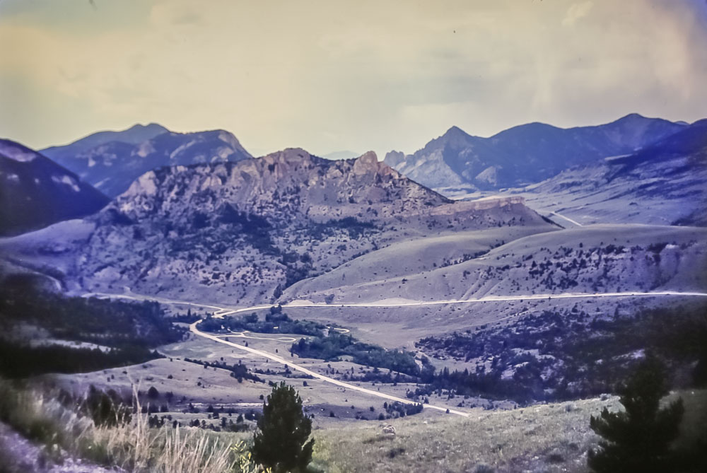 Road out of Yellowstone, 1987