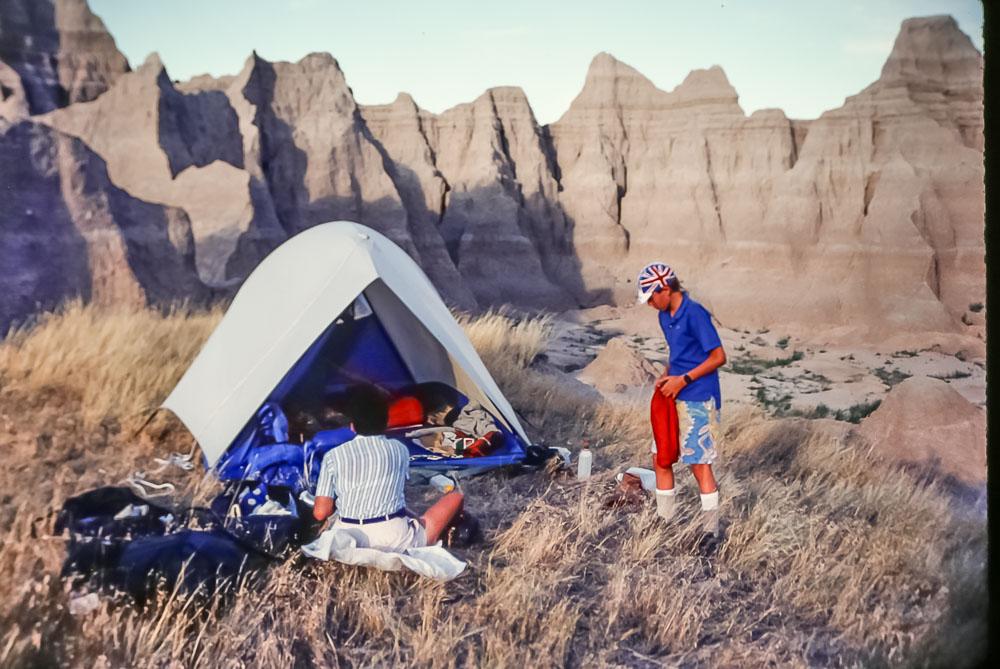 Badlands camp site, 1987