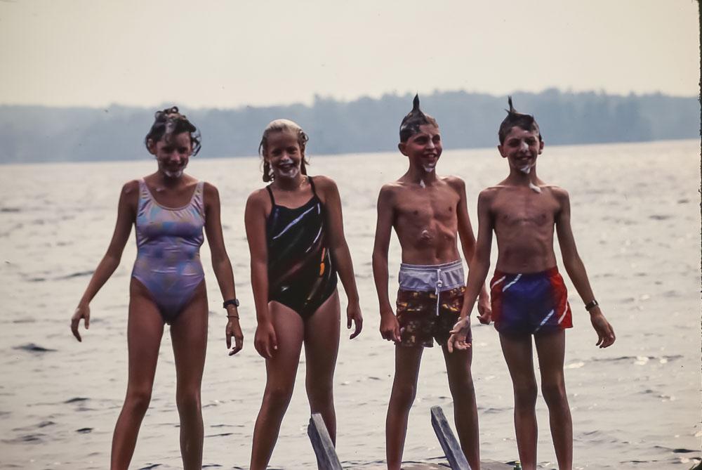 Courtney, Kate, Andrew, Steven, 1987