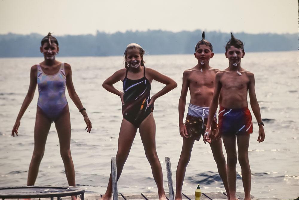 Kate, Courtney, Andrew, Steven, 1987