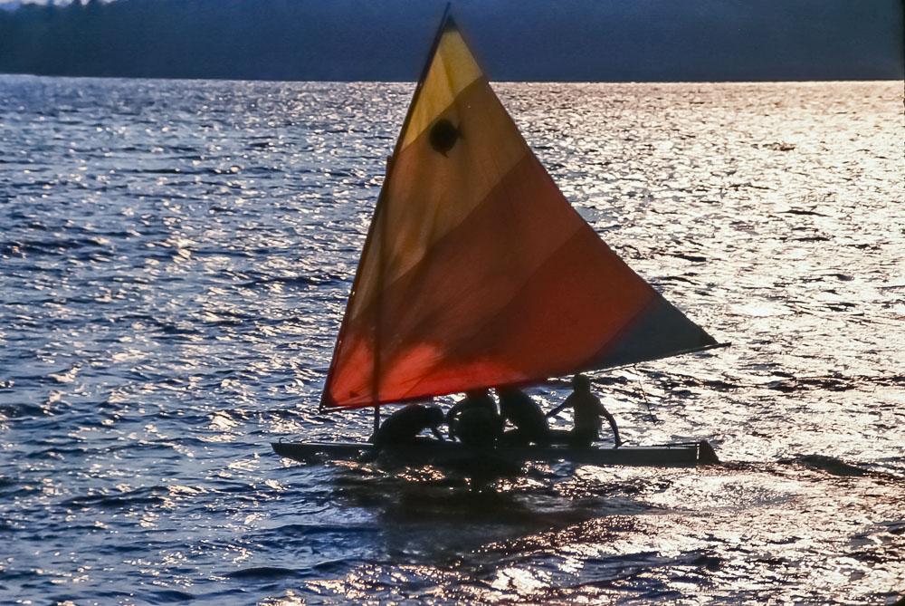 sunfish sailing, 1987