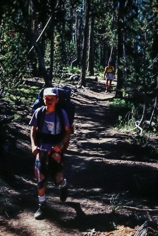 Hiking to Shoshone slake, Yellowstone, 2987