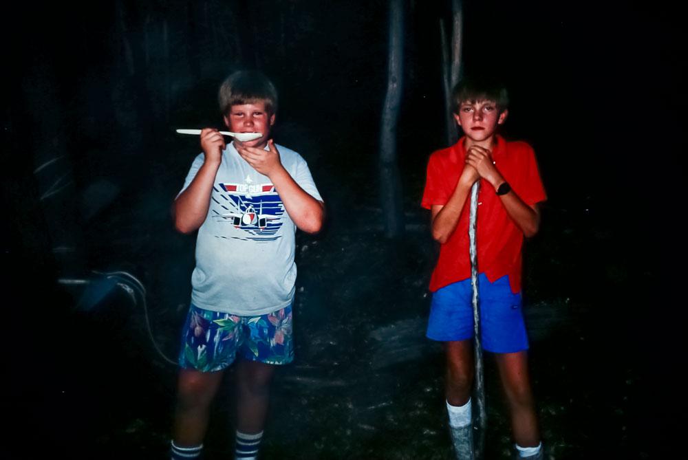 Darren and Andrew, 1987