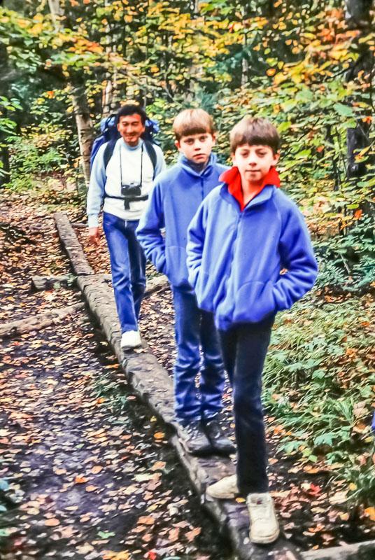 Adirondack hiking with Kuni, 1987