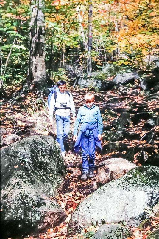 Hiking with Kuni, 1987