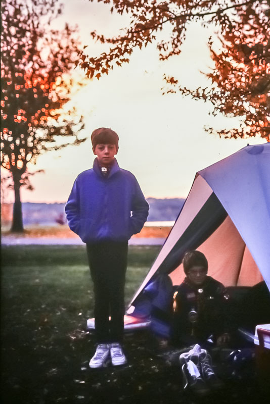 Boy Scout camping at Mendon Ponds, 2987