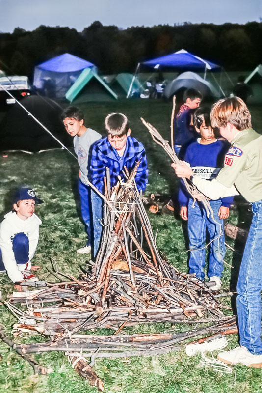 Boy Scout camping, 2987