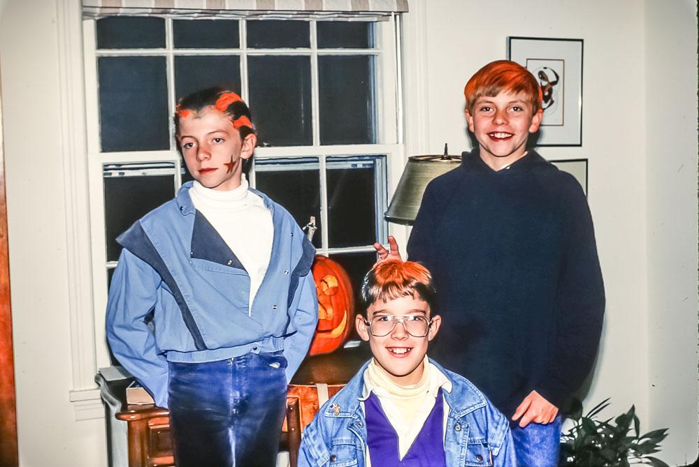 Steven, Curtis, Andrew, Halloween, 1987