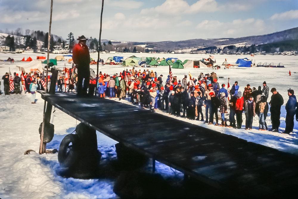 1988 Keuka Lake ice camping