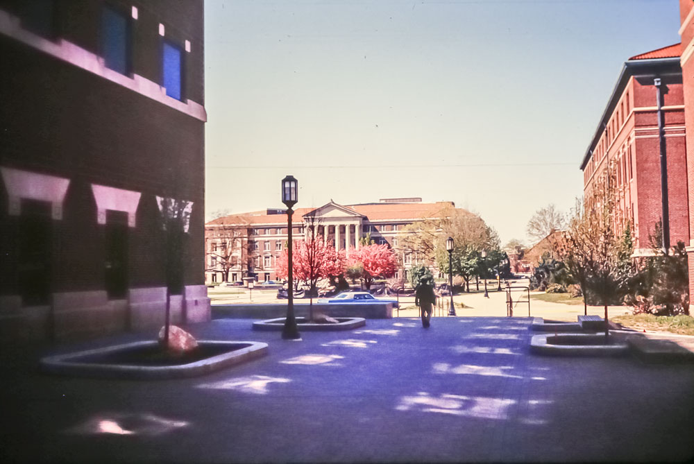 1988 Purdue when cars drive in the quad