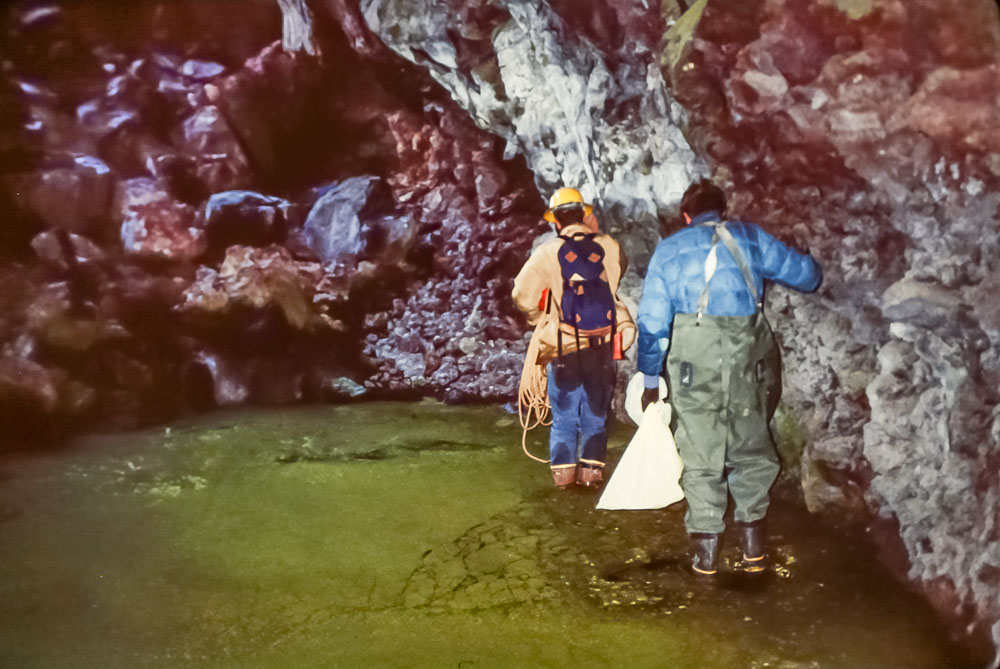 1988 Ice caves in NM with Fred Phillips