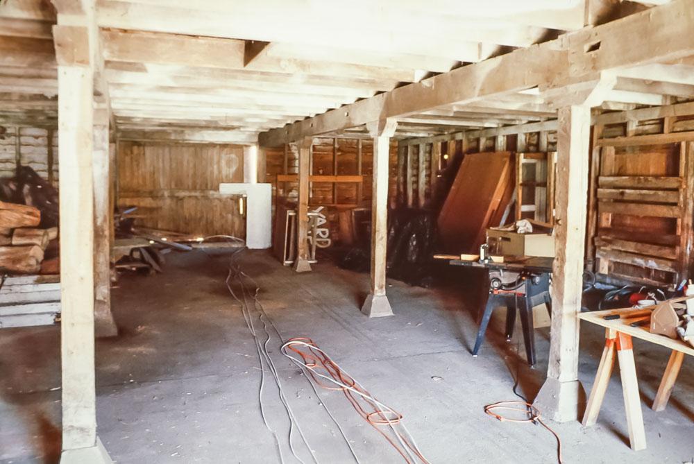 1989 Barn as  workshop