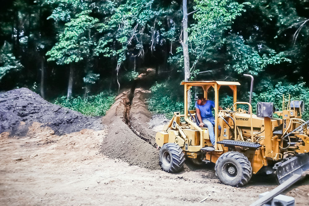 1989 burying the electric line