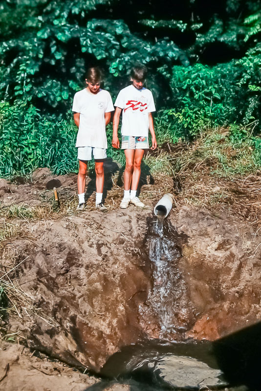 1990 First water in new pond