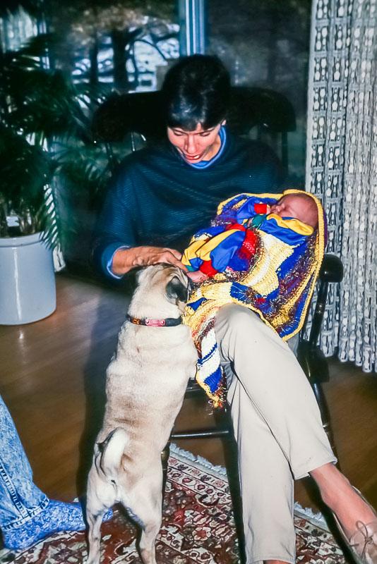 1990 Cyndy greets Nora