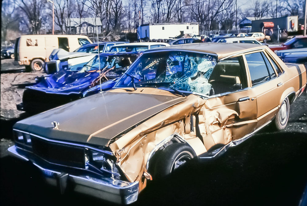 1991 Andrew's car after accident