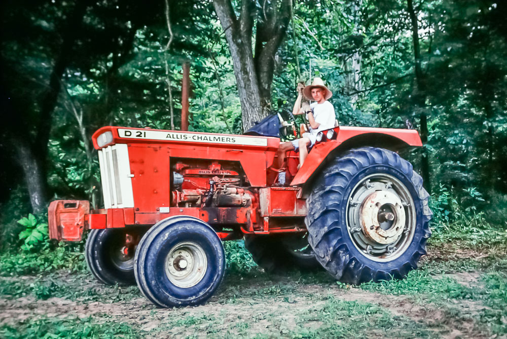 1991  Steven on Marion's tractor