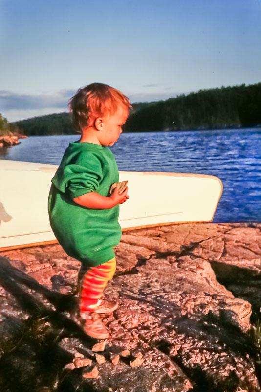 1992 Amanda on canoe trip