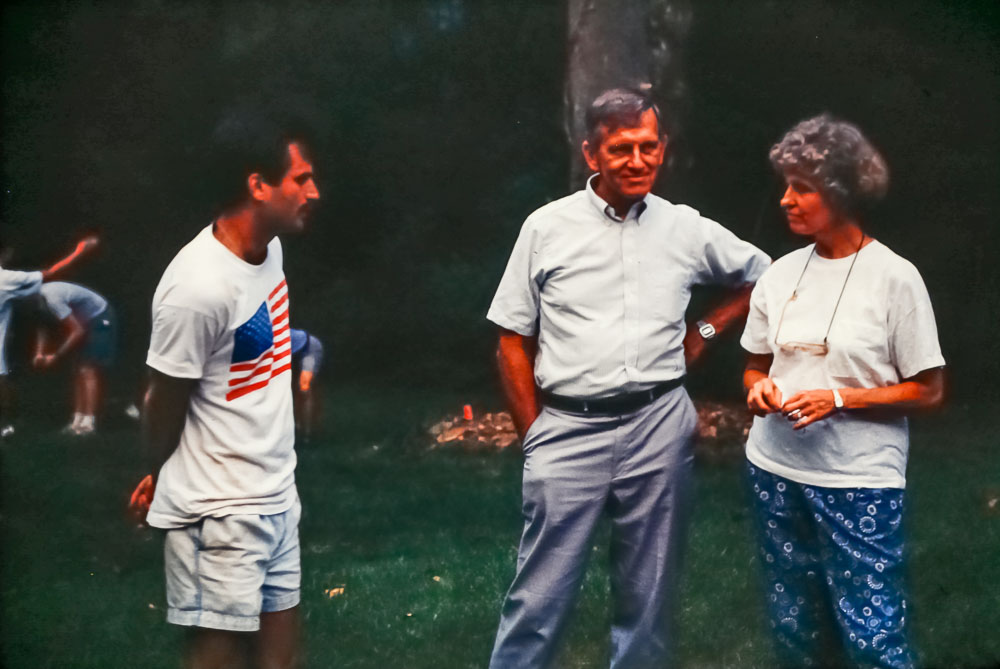 1992 Paul and Shirley Simms with Ed Michlovic