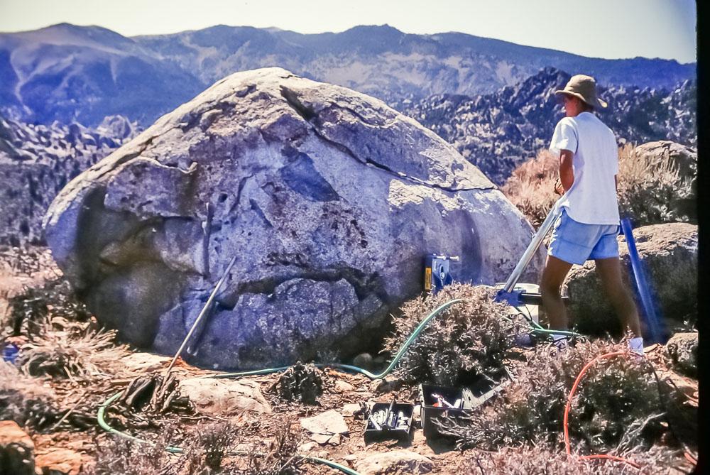 1992 Bishop Creek drilling trip