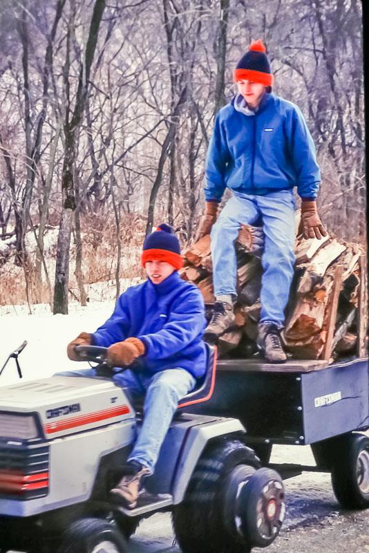 1993 Hauling wood