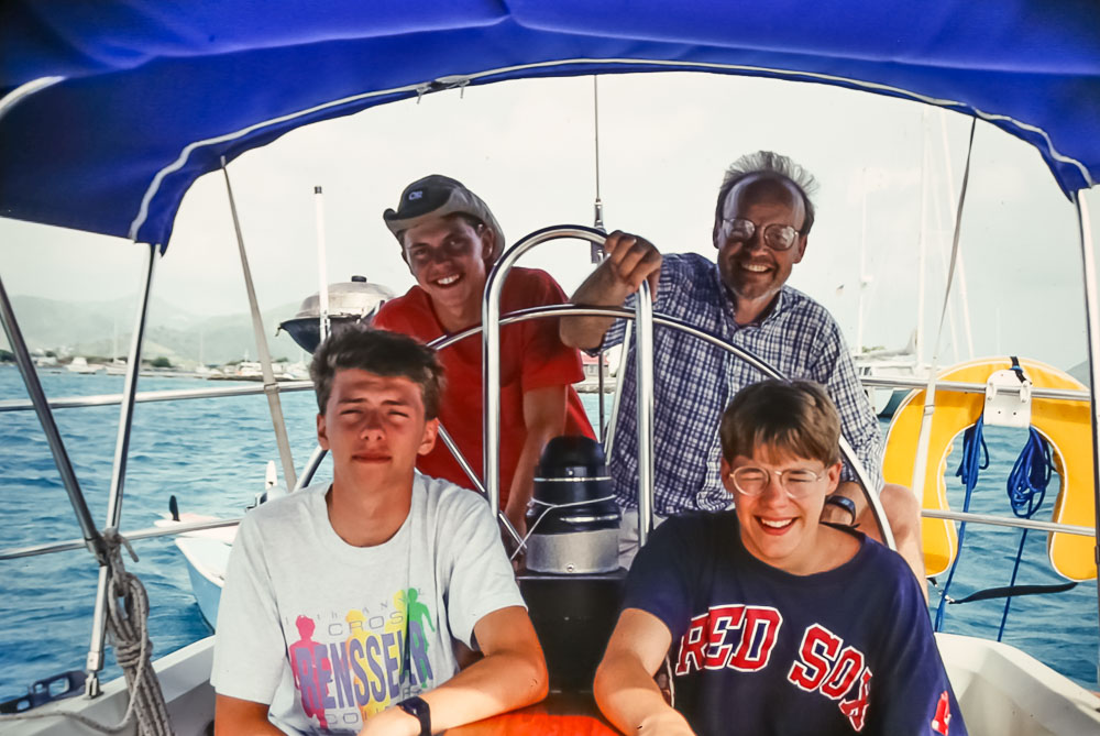 1993 Udo, Andre, Eric, and Steven in BVI