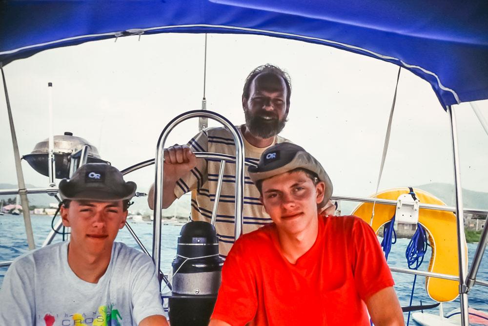 1993 Steven, Andrew, and David in BVI