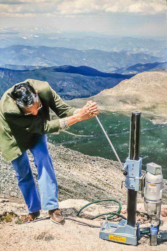1994 Mt. Evans drilling, Lal