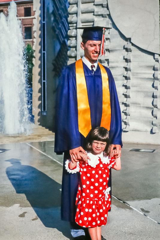1995 Steven with Amanda at graduation