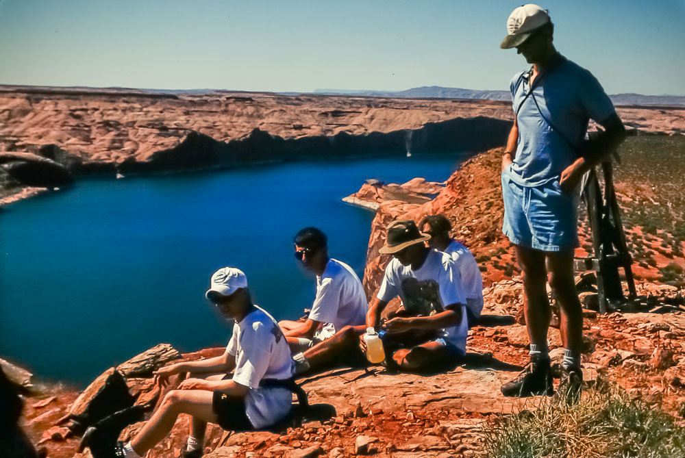 1995 Lake Powell hiking snack break