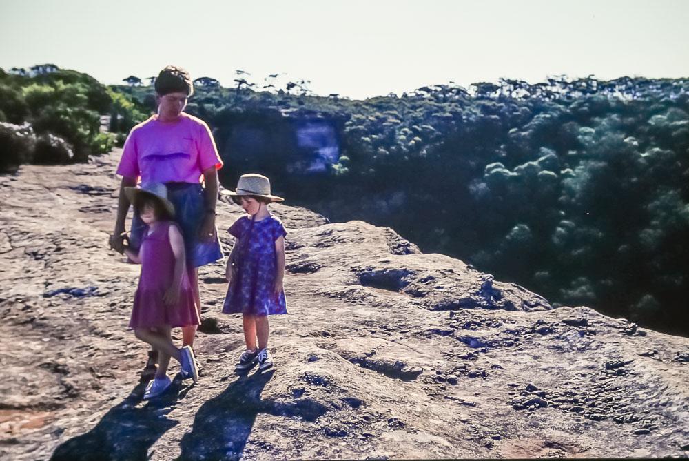 1996 Janet, Amanda, and Emily in Australia