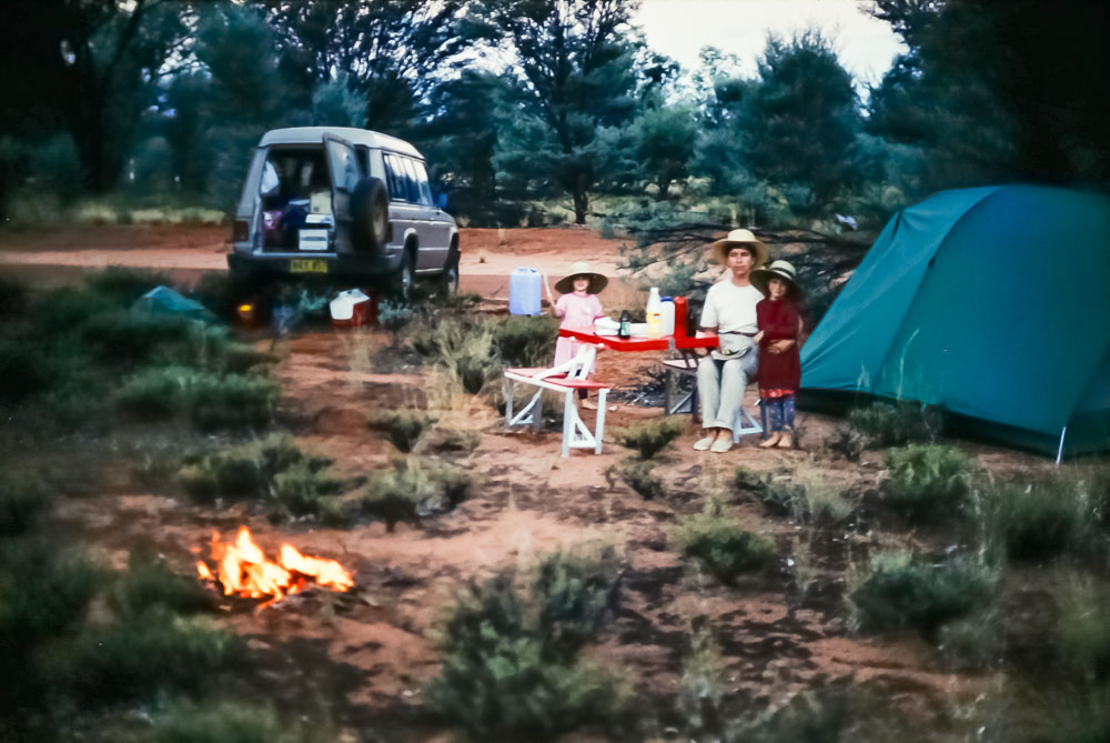 1996 Camping on way to Cairns
