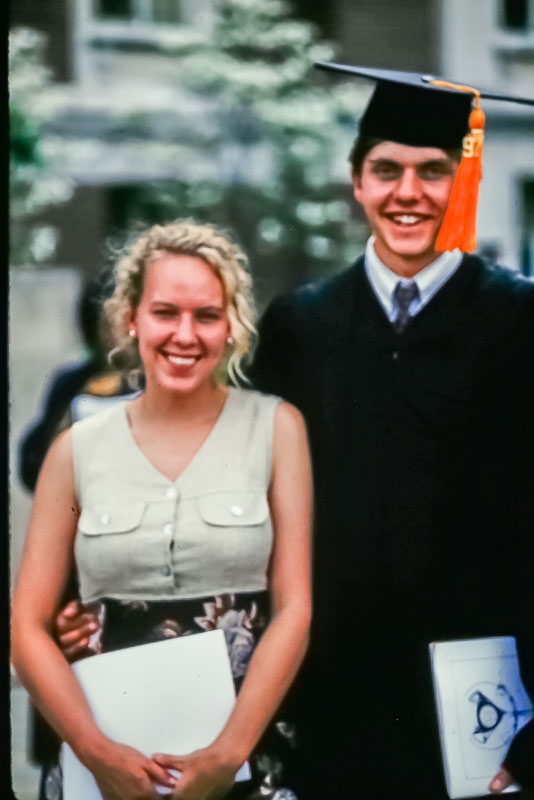 1997 Geather and Andrew at Andrew's Purdue graduation