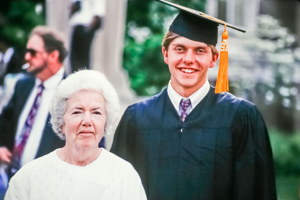 1997 Andrew and Dot Fox at Purdue graduation