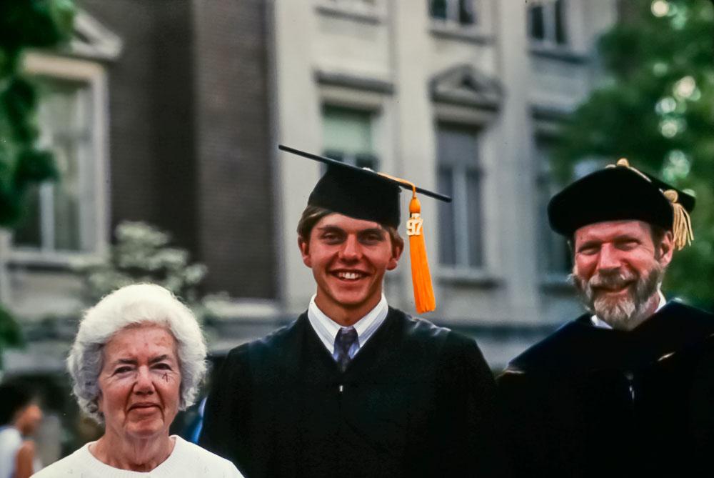 1997 Andrew's graduation -  Dot Fox, Andrew,, and David