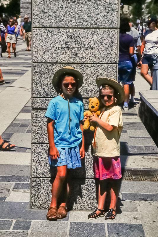 1998 Amanda and Emily at Mt. Rushmore