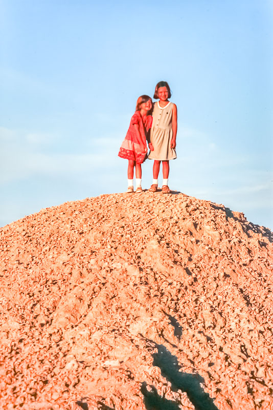 1998 Emily and Amanda in the Badlands