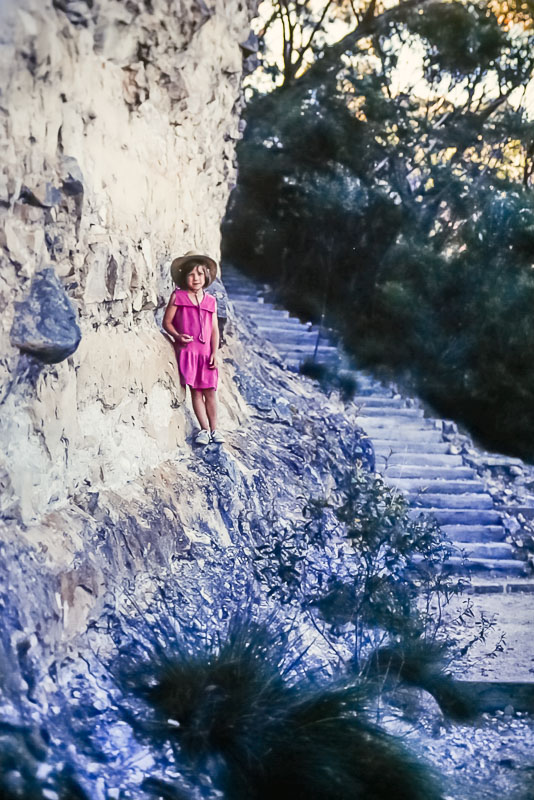 1996 Australia hiking old cattle stairs