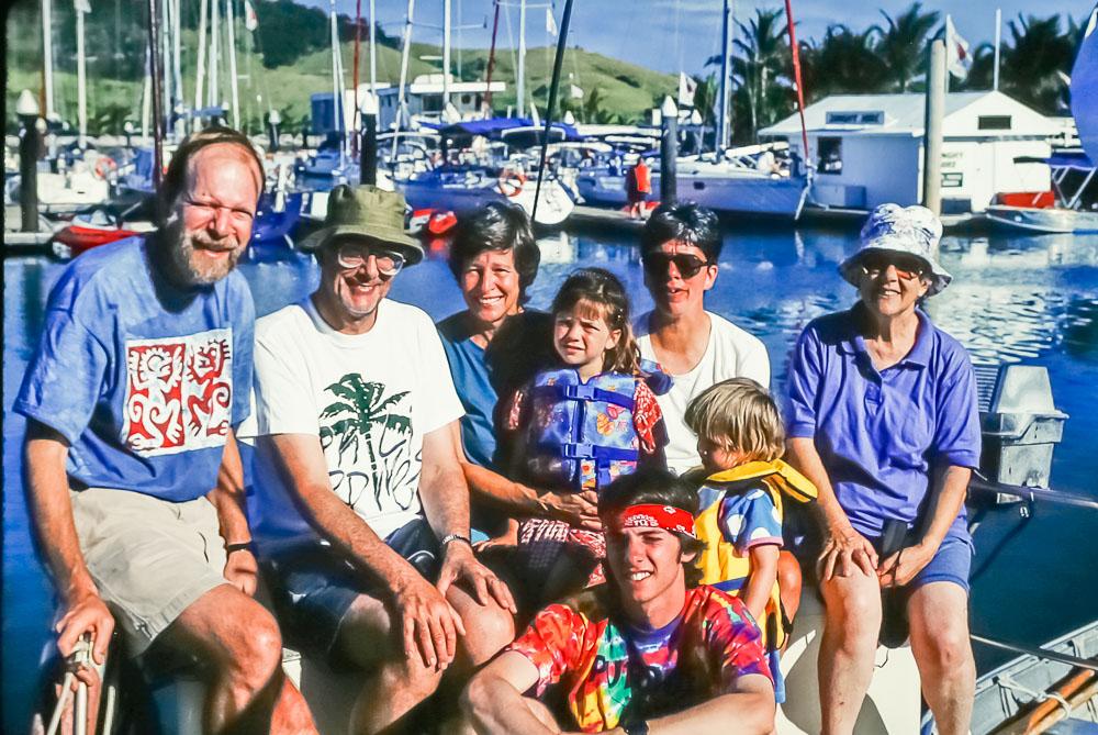 1996 Whitsunday sailing crew