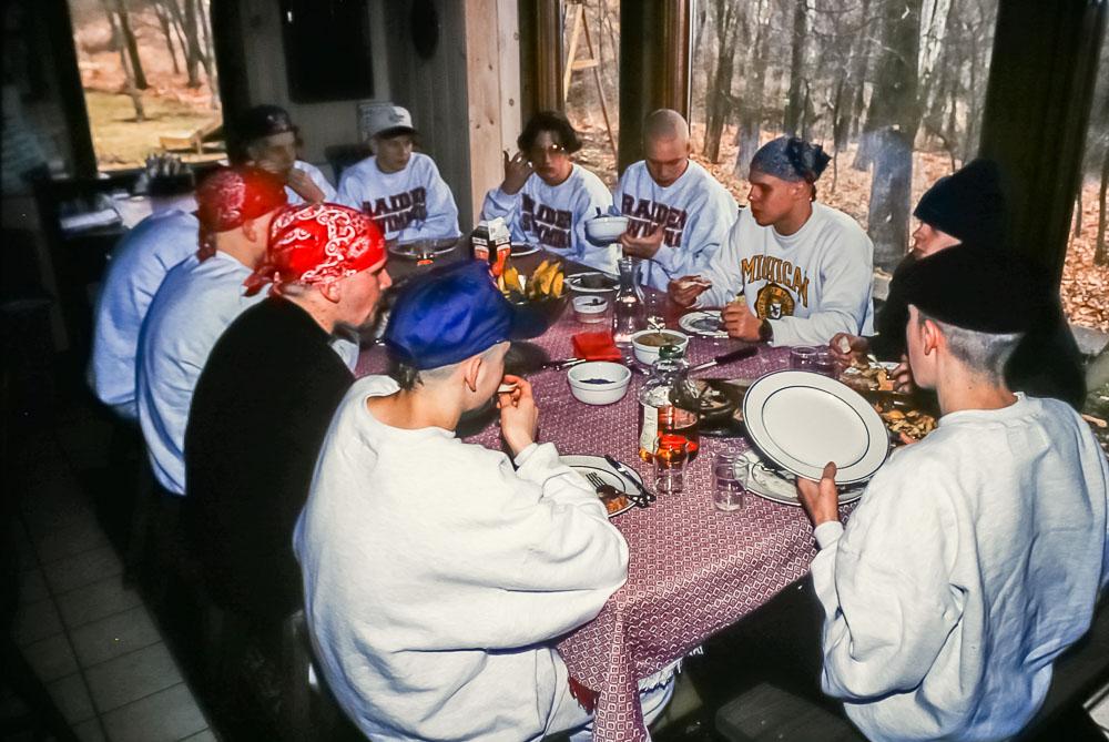1994, Swim team breakfast