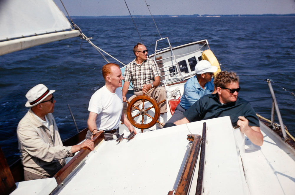 1971 Sailing with Westinghouse colleagues