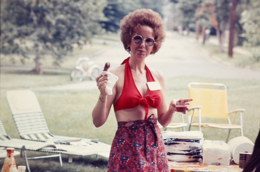 1977 Althea McConnell at Pig Roast