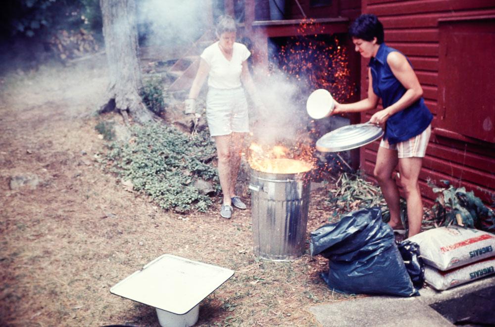 1977 Raku firing
