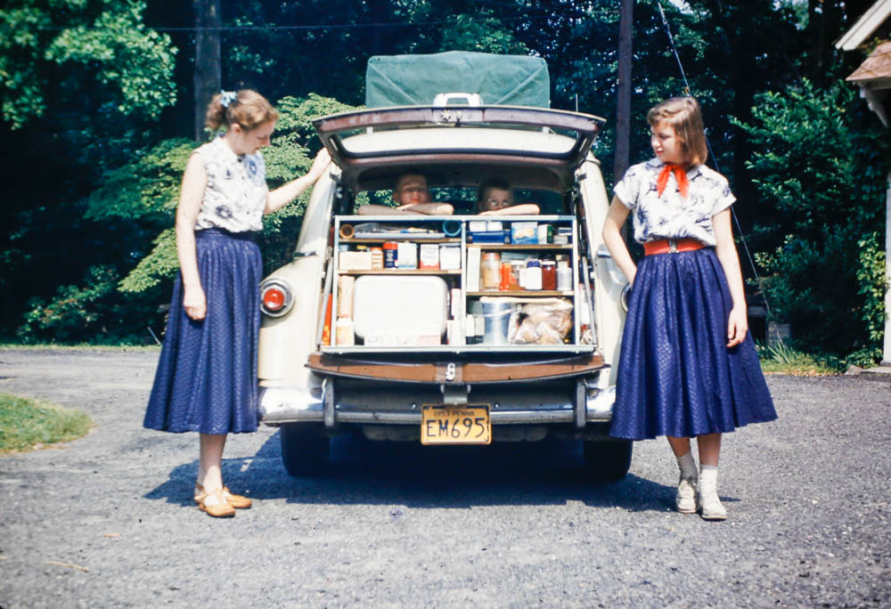 1953 Car packed for adventure