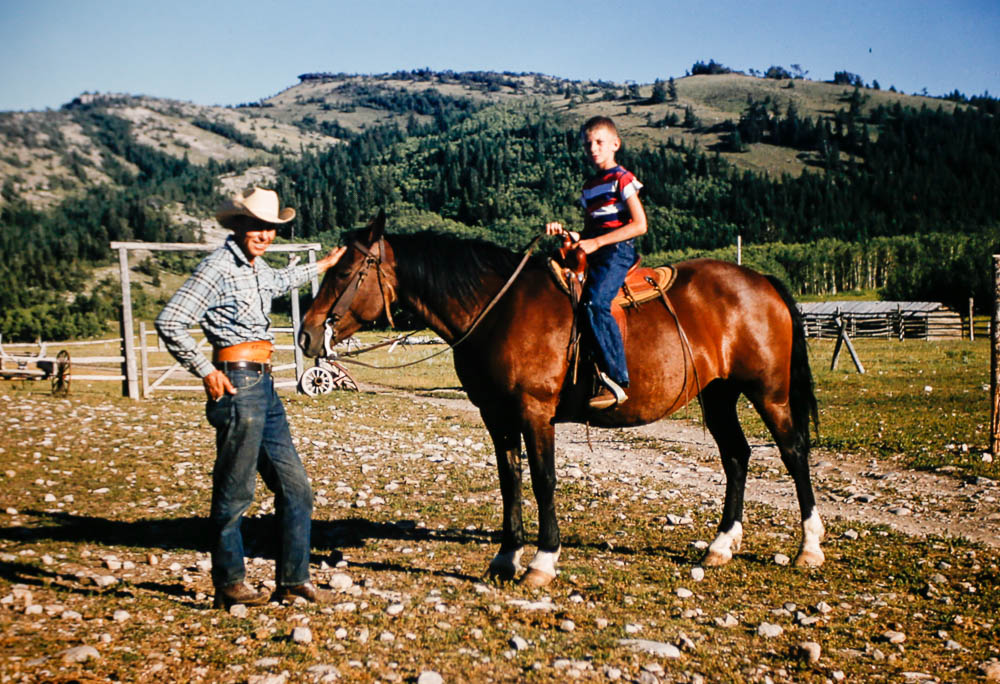1956 David on horseback