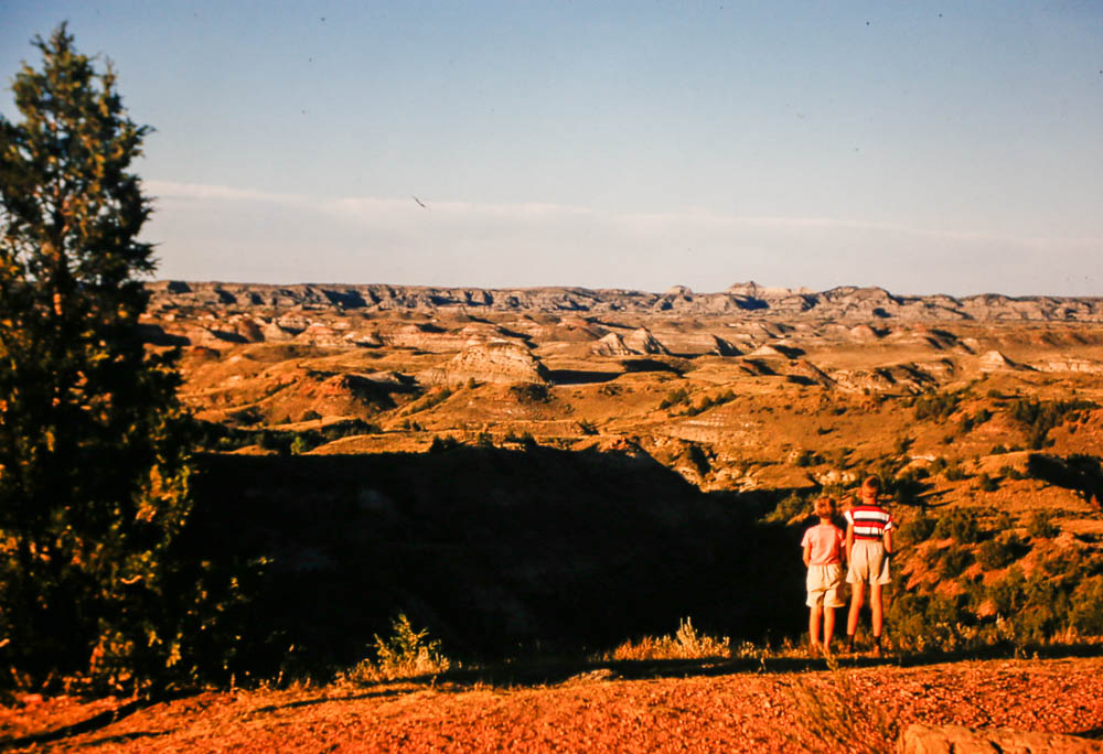1956 David and Liz at the badlands