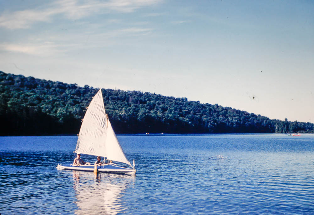 1954 Margie sailing on Otter Pond