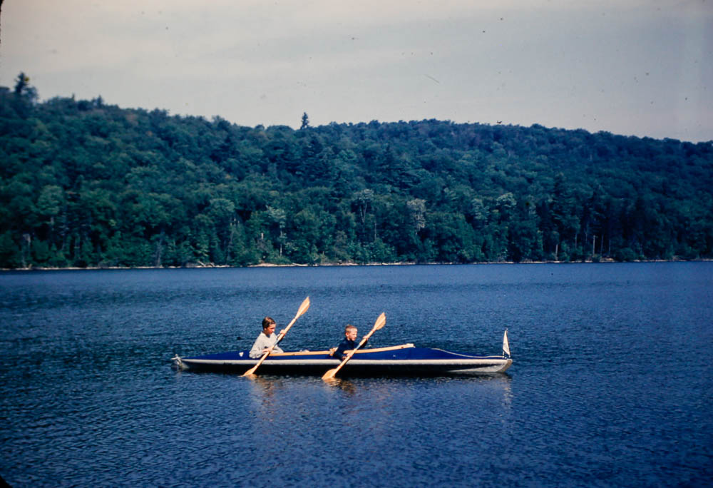 1955 Mary and David in Faltboat
